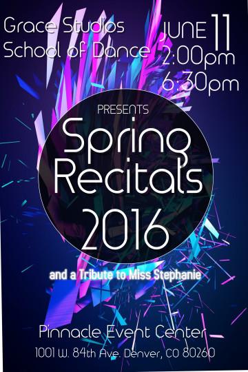 Spring Recitals 2016